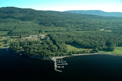 Aerial of Fort St James Marina