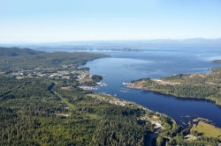 Aerial View of Port Hardy