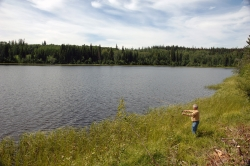 Fishing on Tsichgass Lake, Lakes District