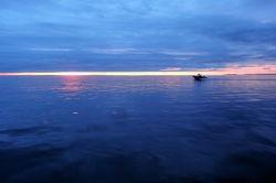 Fishing at Haida Gwaii at Sunset