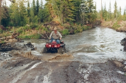 Rudy ATVing
