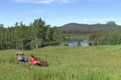 ATV at Noralee Lake