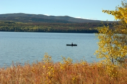 Boating on Francois Lake