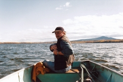 Rudy boating at Nulki Ranch