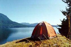 Camping on Redonda Island