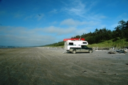 Camper at Haida Gwaii