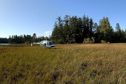 Calvert Island Helicopter