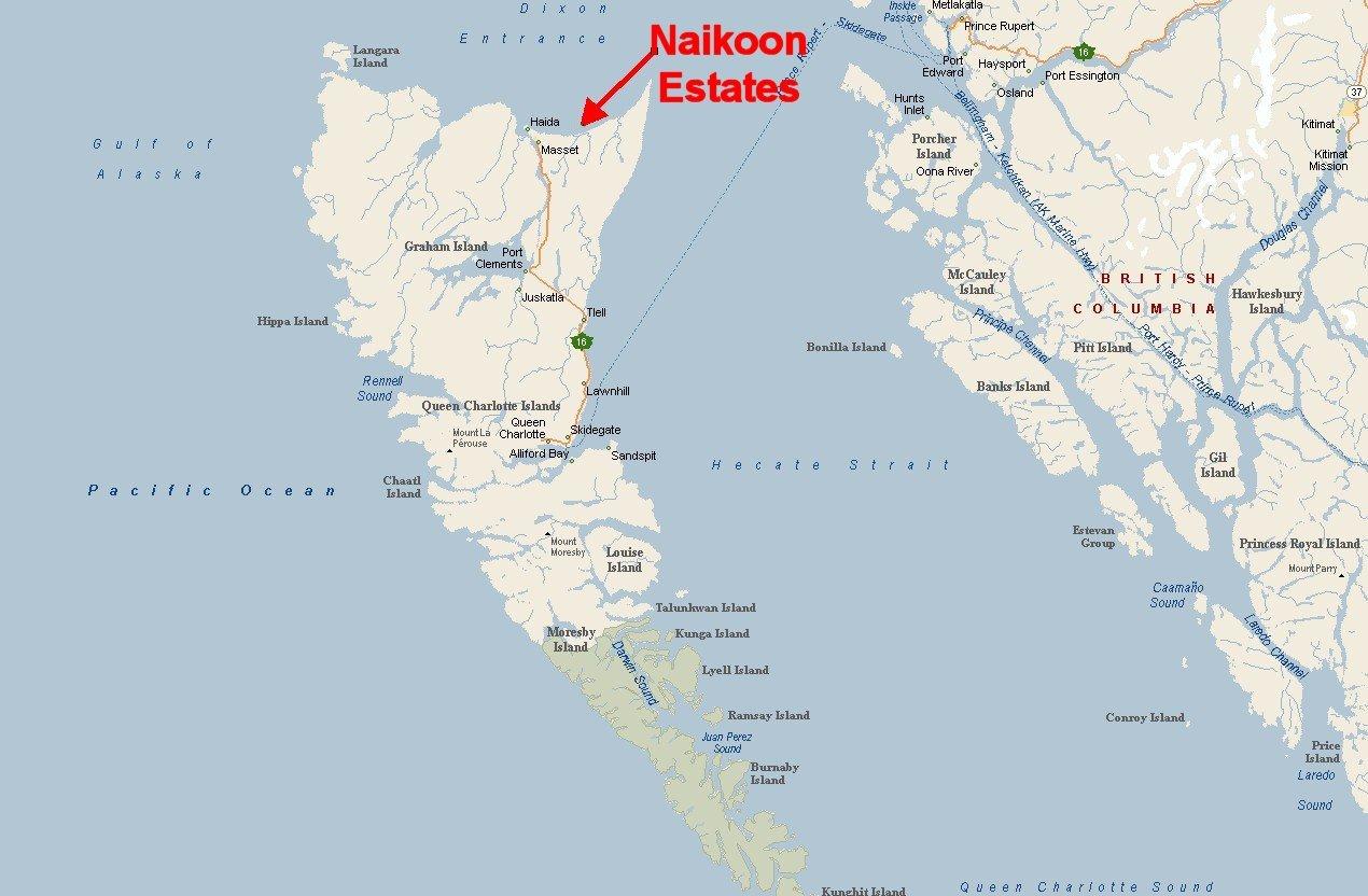Masset Queen Charlotte Islands Map