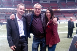 Rudy at the BC Lions Game