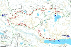Access map to Tsichgass Lake