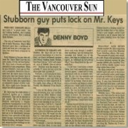 Click here for the Vancouver Sun Article about Rudy & Mr.Keys