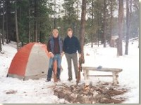 Rudy and Dean winter camping